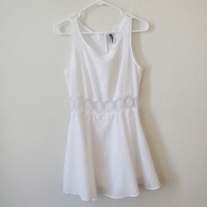 Divided | White Dress With Lace